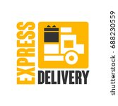 express delivery logo design... | Shutterstock .eps vector #688230559