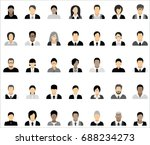 set of thirty five icons of... | Shutterstock .eps vector #688234273