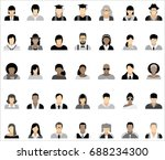 set of thirty five icons of... | Shutterstock .eps vector #688234300