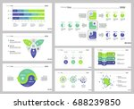 eight research slide templates... | Shutterstock .eps vector #688239850