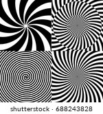 black and white hypnotic... | Shutterstock .eps vector #688243828