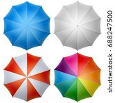 colorful umbrella top isolated... | Shutterstock .eps vector #688247500