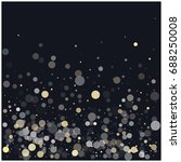 vector festive confetti... | Shutterstock .eps vector #688250008