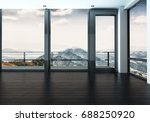 spacious unfurnished room in... | Shutterstock . vector #688250920
