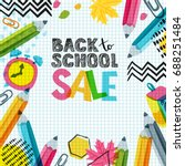 vector back to school sale... | Shutterstock .eps vector #688251484