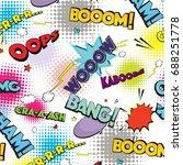 comic speech pop art bubbles... | Shutterstock . vector #688251778