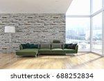 modern bright living room ...   Shutterstock . vector #688252834