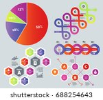 process and percentage chart set | Shutterstock .eps vector #688254643