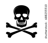 skull and bones. vector. | Shutterstock .eps vector #688255510