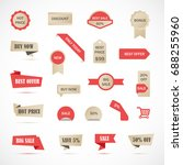 vector stickers  price tag ... | Shutterstock .eps vector #688255960