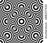 seamless pattern with black... | Shutterstock .eps vector #688257433