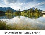 the bow river running through... | Shutterstock . vector #688257544