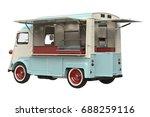 food truck eatery on wheels... | Shutterstock . vector #688259116