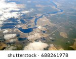aerial view of the river neva...   Shutterstock . vector #688261978