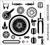 bicycles. a set of bicycle... | Shutterstock .eps vector #688263508