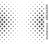 black and white star pattern  ... | Shutterstock .eps vector #688266304