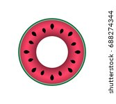 swim ring icon.rubber ring... | Shutterstock .eps vector #688274344