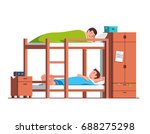 students friends sleeping on... | Shutterstock .eps vector #688275298