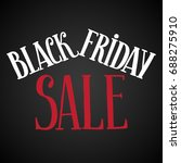 black friday sale abstract... | Shutterstock . vector #688275910