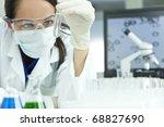a female medical or scientific... | Shutterstock . vector #68827690