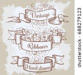 old hand drawn banner to... | Shutterstock . vector #688279123