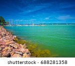 port at lake balaton | Shutterstock . vector #688281358