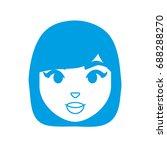 cartoon woman icon | Shutterstock .eps vector #688288270