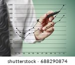 businessman drawing line... | Shutterstock . vector #688290874
