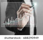 businessman drawing graphic of... | Shutterstock . vector #688290949