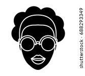 woman with glasses icon | Shutterstock .eps vector #688293349