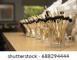 a bunch of toothpicks with... | Shutterstock . vector #688294444