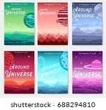 thin line set of colorful... | Shutterstock .eps vector #688294810