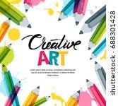 creative  art and design... | Shutterstock .eps vector #688301428