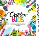 kids art  education  creativity ... | Shutterstock .eps vector #688302463