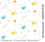 vector multicolored geometric... | Shutterstock .eps vector #688302919