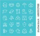 set of line icons  sign and... | Shutterstock . vector #688302988