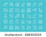 set of line icons  sign and... | Shutterstock . vector #688303024