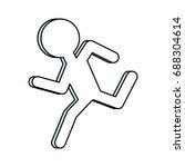 man running pictogram | Shutterstock .eps vector #688304614