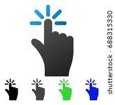 finger click flat vector...