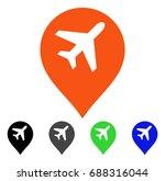 airport map marker flat vector... | Shutterstock .eps vector #688316044