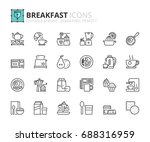 outline icons about breakfast.... | Shutterstock .eps vector #688316959