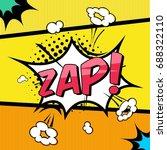 comic book sound effect zap.... | Shutterstock .eps vector #688322110