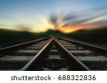 soft focus railway track change ... | Shutterstock . vector #688322836