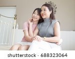 happy family and lovely... | Shutterstock . vector #688323064