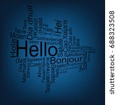 hello tag cloud in different... | Shutterstock .eps vector #688323508