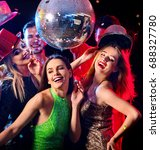 dance party with group people... | Shutterstock . vector #688327780