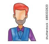man waiter employee face person ... | Shutterstock .eps vector #688332820