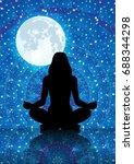 illustration of silhouette of... | Shutterstock . vector #688344298