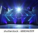 empty runway fashion show... | Shutterstock . vector #688346509