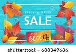 hello autumn vector... | Shutterstock .eps vector #688349686
